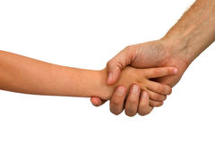 Older younger handshake Royalty Free Stock Photography