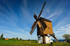 The olders windmill on Bornholm island. Denmark, Europe stock photography