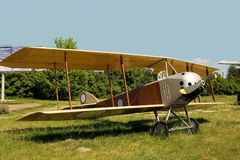 Oldest aircraft with who plane Royalty Free Stock Photos