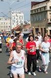 Oldest Belgrade marathon competitor Royalty Free Stock Image