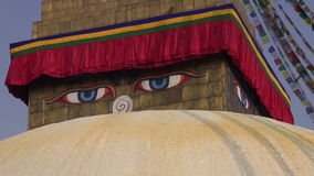 Oldest and biggest buddhist  Boudhanath Stupa in Kathmandu stock footage