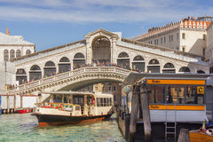 Oldest bridge across the Grand Canal of Venice Stock Photography