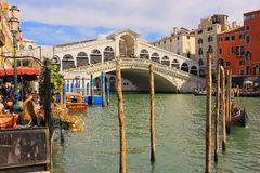 Oldest bridge across the Grand Canal of Venice Royalty Free Stock Image