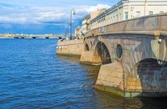 The oldest bridges of St Petersburg Royalty Free Stock Photo