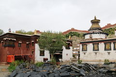 The oldest buddism temple in Lhasa. Lama Buddism in Tibet, the last temple that can escape to destroy from the invader Stock Photos