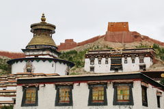 The oldest buddism temple in Lhasa. Lama Buddism in Tibet, the last temple that can escape to destroy from the invader Stock Image