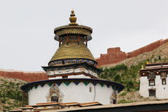 The oldest buddism temple in Lhasa. Lama Buddism in Tibet, the last temple that can escape to destroy from the invader Royalty Free Stock Photos