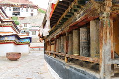 The oldest buddism temple in Lhasa. Lama Buddism in Tibet, the last temple that can escape to destroy from the invader Royalty Free Stock Photo