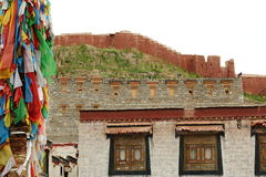 The oldest buddism temple in Lhasa. Lama Buddism in Tibet, the last temple that can escape to destroy from the invader Royalty Free Stock Photography