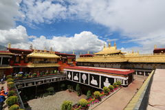 The oldest buddism temple in Lhasa Stock Photos