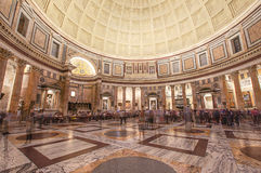 Oldest building in the Rome Pantheon interior Royalty Free Stock Photo