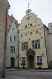 Oldest buildings in Riga old town - Royalty Free Stock Photo