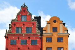 Oldest buildings in Stockholm Stock Photo