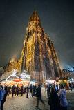 The oldest Christmas Market in Europe - Strasbourg, Alsace, Fran. STRASBOURG, FRANCE - DEC 5, 2014:  Christmas decorations in Strasbourg. Strasbourg is Stock Images