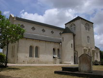 The Oldest Church in Barbados. St. James church with a graveyard in front in Barbados stock image