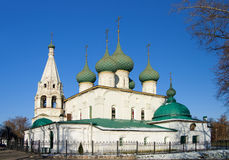 The oldest church of the city of Yaroslavl Royalty Free Stock Photo