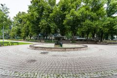 Oldest city fountain in Vermanes Garden Royalty Free Stock Photos