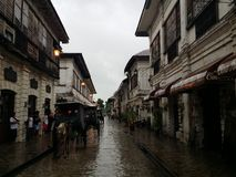 Oldest City in the Philippines. Preserved streets from the 6th Century Stock Photography