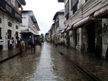 Oldest City in the Philippines. Preserved streets from the 6th Century Royalty Free Stock Photo