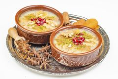 The Oldest Dessert In The World,Asure or AshuraNoah Puddingtraditional dessert to serve on the 10th day of the Muslim month. Muharrem, the first month of the royalty free stock images