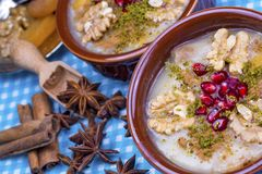 The Oldest Dessert In The World,Asure or AshuraNoah Puddingtraditional dessert to serve on the 10th day of the Muslim month. Muharrem, the first month of the stock photography