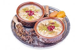 The Oldest Dessert In The World,Asure or AshuraNoah Puddingtraditional dessert to serve on the 10th day of the Muslim month. Muharrem, the first month of the royalty free stock photos