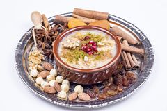 The Oldest Dessert In The World,Asure or AshuraNoah Puddingtraditional dessert to serve on the 10th day of the Muslim month. Muharrem, the first month of the royalty free stock image