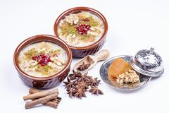 The Oldest Dessert In The World,Asure or AshuraNoah Puddingtraditional dessert to serve on the 10th day of the Muslim month. Muharrem, the first month of the royalty free stock photo