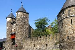 Oldest Dutch city gate the Helpoort in Maastricht Stock Images