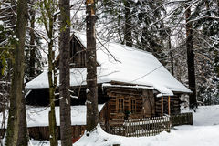 The oldest highland cottage in Zakopane Stock Images