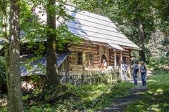 The oldest highland cottage, Zakopane Stock Photos