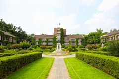 Oldest historical and administrative building of Yonsei University - Seoul, South Korea Stock Photos