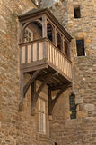 Oldest house with balcony of Saint Malo. Brittany. Stock Photos