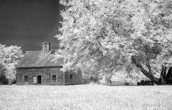 Oldest House on Nantucket. An infra-red photograph of the Jethro Coffin House, which is the oldest residence on Nantucket.It was built in 1686 and is the only Royalty Free Stock Images