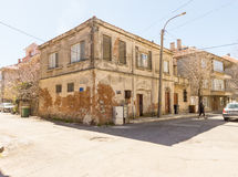 The oldest house in Pomorie, Bulgaria Stock Images