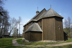 Oldest Lithuanian Church in Paluse. Wooden Church and Bellfry in Paluse, Ignalina, Lithuania Stock Photography
