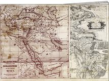 Oldest maps. Image related to of the sheets with on you bring oldest maps of the world Stock Photos