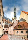 Oldest medieval church in Riga, Latvia Royalty Free Stock Images