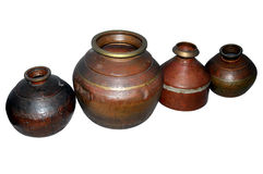 Oldest metal pots Royalty Free Stock Photo