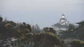 Point Pinos Light is Tucked into a Tight Area built in 1855 stock video