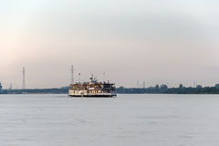 The oldest paddle steamer of Russia of N.V.Gogol on the river Northern Dvina. Stock Photography