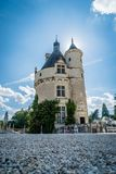 Oldest part of the Chenonceau castle in the Loire valley stock image