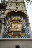 The oldest public clock in France is on the Palais de la Cité, Paris. The oldest public clock in France is on the Palais de la Cité, L`horloge tower as it royalty free stock images