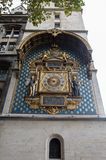 Oldest Public Clock in Paris France stock photography