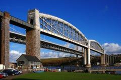 the oldest railway bridge Plymouth, UK Stock Photo