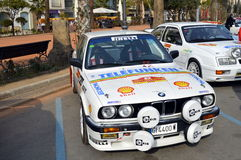 The oldest rally in spain, 2015, 63 Rally Costa Brava. Sporting Rally Champ 2015. Lloret de Mar - Girona. Royalty Free Stock Image