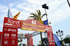 The oldest rally in spain, 2015, 63 Rally Costa Brava. Sporting Rally Champ 2015. Lloret de Mar - Girona. Stock Images