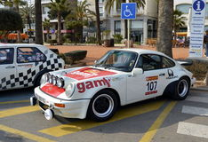 The oldest rally in spain, 2015, 63 Rally Costa Brava. Sporting Rally Champ 2015. Lloret de Mar - Girona. Royalty Free Stock Images