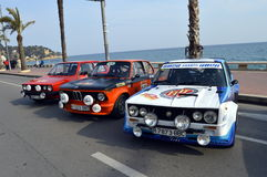 The oldest rally in spain, 2015, 63 Rally Costa Brava. Sporting Rally Champ 2015. Lloret de Mar - Girona. Royalty Free Stock Photo
