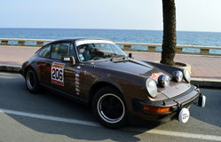 The oldest rally in spain, 2015, 63 Rally Costa Brava. Sporting Rally Champ 2015. Lloret de Mar - Girona. Royalty Free Stock Photography